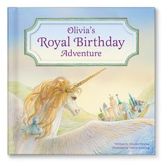 """NEW! """"My Royal Birthday Adventure"""" personalized book. In this story, the birthday girl flies off on a unicorn to a magical kingdom where she is crowned birthday princess! Available at www.iseeme.com."""