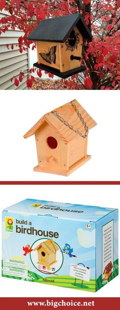 Don't you know how to make a simple birdhouse? Shop wooden bird house kit that contains all needed parts. #birdhousekits