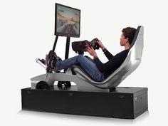 Nyck de Vries and Playseat Driving Simulator