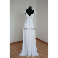 Love!! one of my Faves!!!!!!!!   MGSD3008(f)-deep V neck chiffon wedding dress,bridal gown