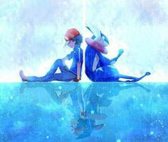 Beautiful ♡ Ash Ketchum with his soon to be Greninja ^.^ ♡ I give good credit to whoever made this