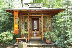 Japanese Tea House - asian - Landscape - Other Metro - Miriam's River House Designs, LLC Japanese Style House, Traditional Japanese House, Japanese Garden Design, Houses Architecture, Japanese Architecture, Drawing Architecture, Beautiful Architecture, Japanese Shrine, Asian House