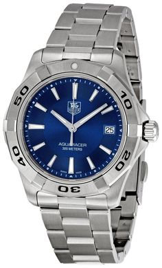 Tag Heuer men watches : TAG Heuer Men's WAP1112.BA0831 Aquaracer Blue Dial Watch