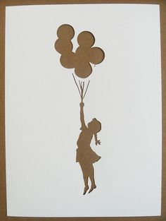 banksy stencil for yellow frame