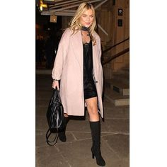 TV presenter Laura Whitmore wears our #LKBennett Ali boots and Catrina bag on an evening out #AsSeenOn
