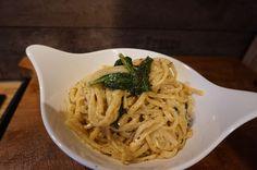 Butter Pasta mit Zitrone - Thymian - Spinat   schnelles warmes Abendessen