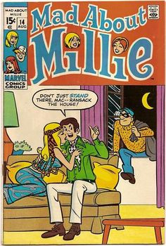BRONZE AGE 1970 MAD ABOUT MILLIE #14 MARVEL Comics LOOK!!