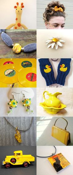 GIRAFFE says: Special Yellow! by Sheila and Shannon on Etsy--Pinned+with+TreasuryPin.com