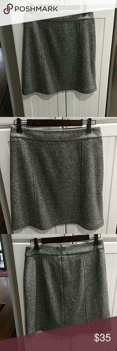 Ann Taylor skirt Gorgeous grey Ann Taylor skirt in boiled wool. Perfect for work or play in excellent condition Ann Taylor Skirts