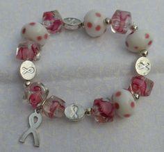 Breast Cancer Awareness Bracelet by HillsideCreations on Etsy, $10.99