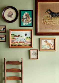 If your a dog lover who loves antiques you need to start collecting needlepoints and paint-by-numbers. hreaded pups range from finely detailed works from the 1800s (see the Doberman portrait, far right) to circa 1950s items created from kits similar to paint-by-numbers.