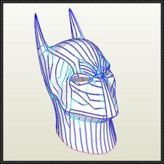 Hybrid Batman Helmet Papercraft Free Template Download - http://www.papercraftsquare.com/hybrid-batman-helmet-papercraft-free-template-download.html
