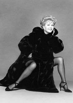 """Debbie Reynolds in 1993, that year's selection for Blackglama's """"What Becomes A Legend Most?"""" campaign"""