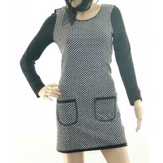 Joseph Ribkoff Women's New Black and White Front Pocket Tunic - 143643