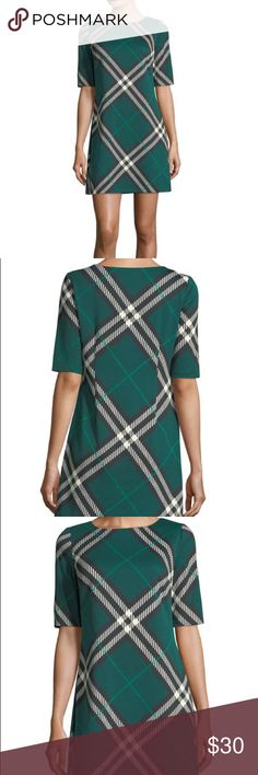 NWOT Eliza J Plaid Shift Dress Bought for Christmas and wore something else. New without tags. Fantastic Shift Dress. Size 6. Eliza J Dresses