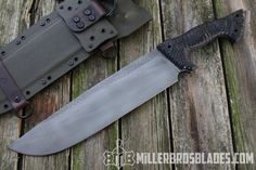 Miller Bros. Blades M-10. This model is available in Z-Wear PM, CPM 3V, Z-Tuff PM and 5160 steels Miller Bros. Blades Custom Handmade Knives, Swords & Tomahawks.