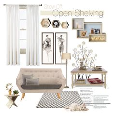 """Show Off: Open Shelving"" by sofiasolfieri ❤ liked on Polyvore featuring interior, interiors, interior design, home, home decor, interior decorating, Royal Velvet, Universal Lighting and Decor, Pacific Coast and Bloomingville"