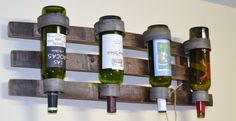 Triple stave Wine barrel bottle wall hanging by WineyGuys on Etsy, $99.00