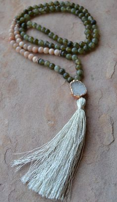 108 Bead Meditation Mala Protection Joy by GratefulHeartBazaar