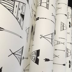Removable Wallpaper, Teepee wallpaper, Teepee, Tee pee, Peel and stick wallpaper, Kids wallpaper, Nursery wallpaper, Nursery decor, Arrow