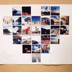 Romantik Fotoğraf Çerçevesi Yapılışı Heart Photo Walls, Photo Heart, Diy Photo, Pretty Pictures, Picture Frames, Diy Crafts, Lights, Display, Creative