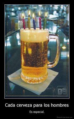 Cada cerveza para los hombres