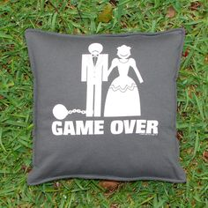 Game Over Wedding T-shirt Pillow Sham by BreauxBunchQuilts, $20.00