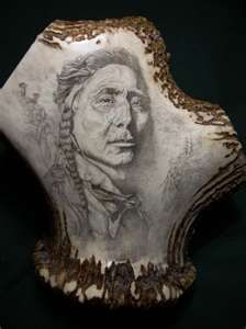 Scrimshaw Native Indian