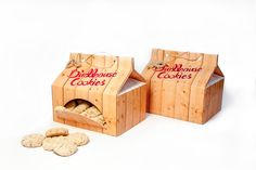 Birdhouse Cookies (Concept) on Packaging of the World - Creative Package Design Gallery Biscuits Packaging, Wall Of Sound, Design Lab, Packaging Design Inspiration, Birdhouse, Inventions, Something To Do, Packing, Gift Wrapping