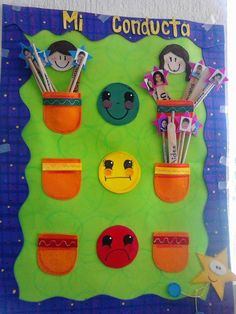 TIPS DE ACTIVIDADES PARA TU GRUPO ESCOLAR: Cartel para el Control de Conducta Grupal e Individual Classroom Rules, Classroom Setting, School Classroom, Classroom Decor, Class Decoration, School Decorations, Kids Corner, School Projects, Diy Crafts For Kids