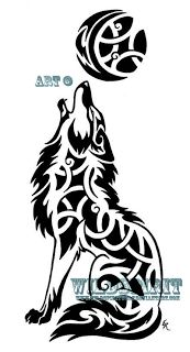 Celtic Wolf <3  Symbolizes: Intelligence, Friendliness, Generosity, Loyalty, Compassion, Cunning, and Communication