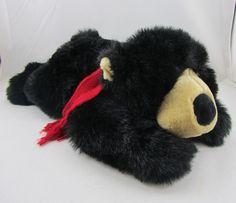 Herbergers Maximillian Black Stuffed Plush Bear EUC Animal Soft Cute Toy 1999 #Herbergers
