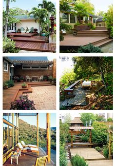 6 pictures of wooden backyard deck design ideas