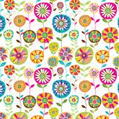 Bloom 5 fabric by yuyu for sale on Spoonflower - custom fabric, wallpaper and wall decals