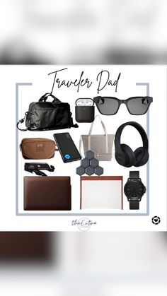 Gifts For New Dads, Fathers Day Gifts, Father's Day Diy, Travel Essentials, Gift Guide, Travel Necessities, Travel Must Haves, Father's Day Gifts, Travel Accessories