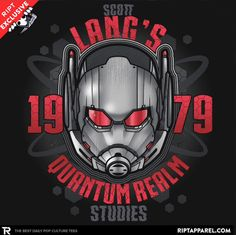 Ant-Man T-Shirt by AtomicRocket. Scott Lang's Quantum Realm Studies 1979 is a very cool t-shirt for fans of Marvel Comics' Ant-Man. Cool Tees, Cool T Shirts, Superhero Villains, Super Hero Outfits, Cheap Shirts, Marvel Heroes, Custom T, Pop Culture, Graphic Tees