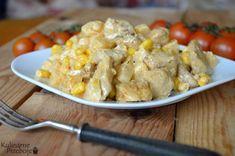 Sałatka z kurczakiem gyros i ananasem Potato Salad, Potatoes, Chicken, Ethnic Recipes, Food, Pineapple, Potato, Essen, Meals