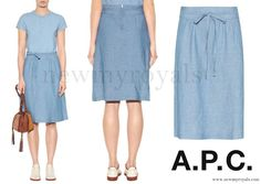 Crown Princess Mary wore A.P.C. Bellona Linen and Cotton Skirt www.newmyroyals.com