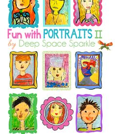 Deep Space Sparkle's biggest PDF to date: of fun portrait making for elementary students. Beautiful, standard-based and accessible for every student. Painting For Kids, Art For Kids, Kid Art, Deep Space Sparkle, Art Programs, Classroom Inspiration, Art Classroom, Classroom Projects, Classroom Ideas