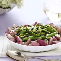 Sautéed Radishes and Sugar Snap Peas with Dill