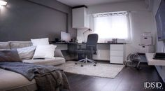 Room layout with lighting
