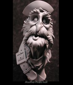Pirate 2 Character Concept, Character Art, Concept Art, Character Design, Polymer Clay Sculptures, Sculpture Clay, Pirate Face, Marionette, 3d Modelle
