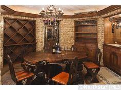 Stylish wine tasting room and wine cellar   1400 Bracketts Point Road, Orono, MN 55391