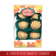6 Piece Box – Pure Maple Syrup Candy