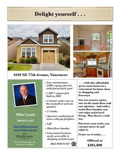 Just Listed! Real Estate for Sale: $305,000-2 Bd/2.1 Ba Turn-Key Ready Two Story Sunrise Grove Home with Great Room Concept on .07 Acre Lot at: 6103 NE 77th Ave, Vancouver, Clark County, WA! Area 21. Listing Broker: Mike Lamb (360) 921-1397, Windermere Stellar, Vancouver, WA! #realestate #justlisted #VancouverRealEstate #SunriseGroveRealEstate #GreatRoomConcept #TurnKeyReady #TwoStoryRealEstate #TwoBedroomSuites #CentralLocation #MikeLamb #WindermereStellar
