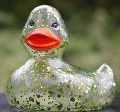 Bath & Body Works RUBBER DUCK Green & Gold Glitter HOLIDAY Christmas Ducky NEW 667525840810 | eBay