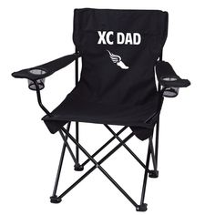 Cross Country Dad Black Folding Camping Chair with Carry Bag