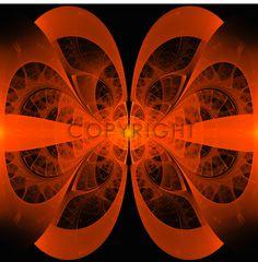 Orange Fantasie,  auch mit anderem Hintergrund möglich!