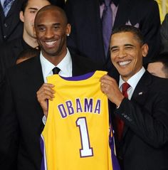Haha! Obama is officially part of the lakers!  Kobe Bryant<3