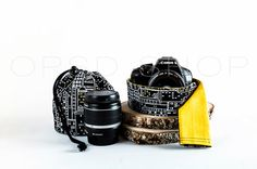 Photographer Gift Set  Cover Camera Strap w/ Drawstring by OPSD